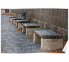 Benches on the Quai Poster
