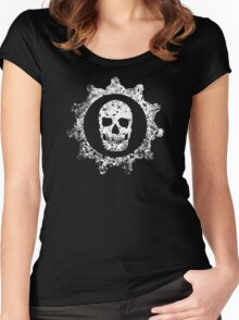 Scary Gear Skull Women's Fitted Scoop T-Shirt
