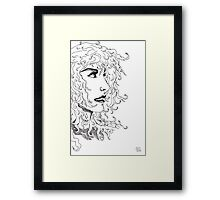 The unknown girl Framed Print