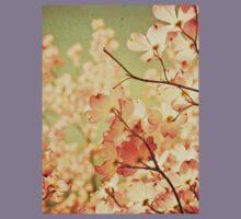 Vintage Pink Spring Flowers Kids Tee