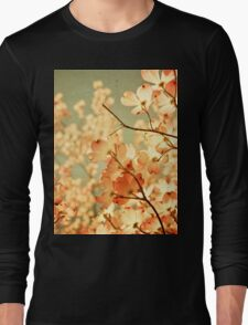 Vintage Pink Spring Flowers Long Sleeve T-Shirt