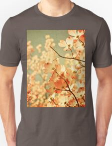 Vintage Pink Spring Flowers Unisex T-Shirt