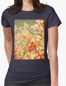 Vintage Pink Spring Flowers Womens Fitted T-Shirt