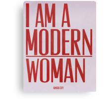 I Am A Modern Woman Canvas Print