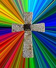 colorburst Lord's prayer cross by dedmanshootn