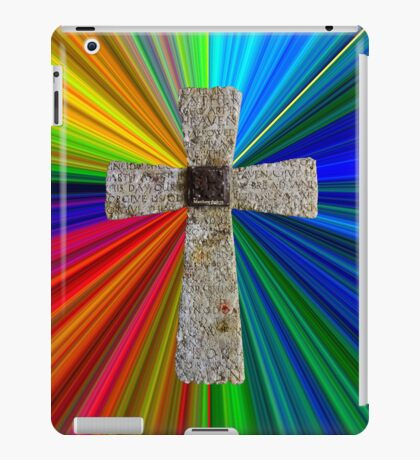 colorburst Lord's prayer cross iPad Case/Skin