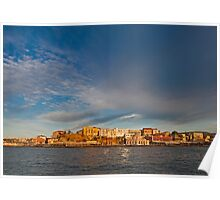 A storm over Chania in Crete Poster