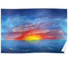Impressionistic Sunset Poster