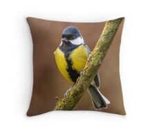 Great Tit Parus major Throw Pillow