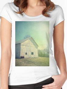 Early Morning in the Country Women's Fitted Scoop T-Shirt