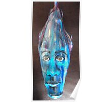 Blue face - Palm Frond Poster