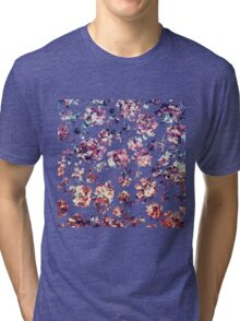 Rustic Marble Rose Pattern Tri-blend T-Shirt