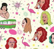 Punk Flamingos Pattern Sticker