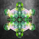 Metatron&#x27;s Cube green by filippobassano