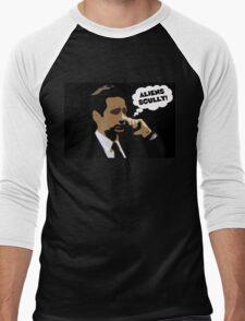 "X-Files Mulder ""Aliens Scully"" Men's Baseball ¾ T-Shirt"