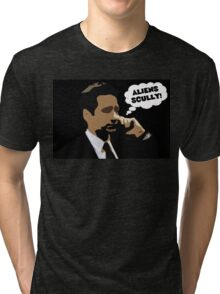 "X-Files Mulder ""Aliens Scully"" Tri-blend T-Shirt"