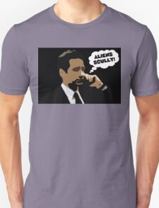 """X-Files Mulder """"Aliens Scully"""" T-Shirt"""