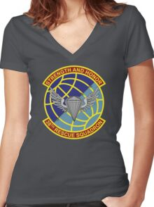 38th Rescue Squadron Women's Fitted V-Neck T-Shirt