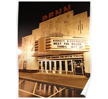 Rainy Night At The Penn Theater Poster