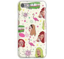 Punk Flamingos Pattern iPhone Case/Skin