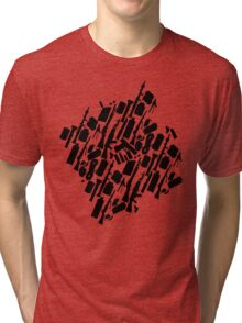 Zombie Apocalypse Checklist pattern Tri-blend T-Shirt