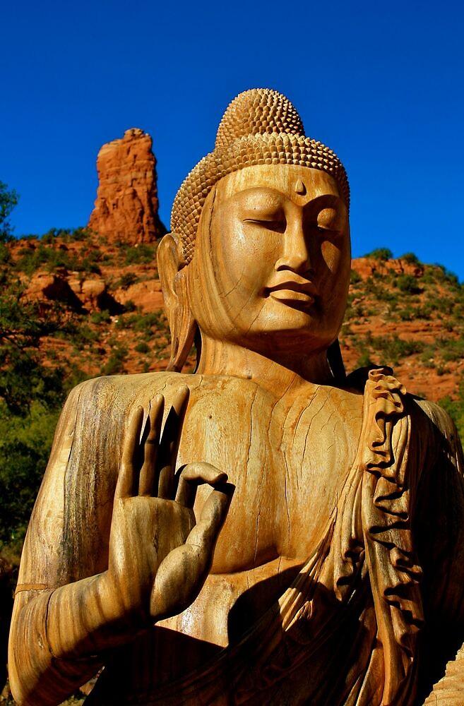 Buddha In Sedona AZ by Gina Dazzo