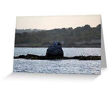 Whale Rock Light House Remains Greeting Card