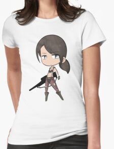 Chibi Quiet Womens Fitted T-Shirt