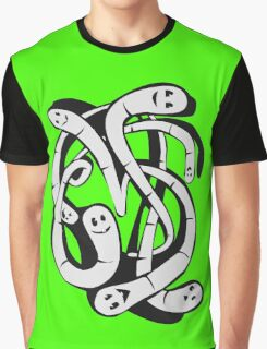 Worms1 funny nerd geek geeky Graphic T-Shirt