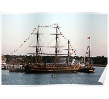 Tall Ships at Anchor Poster
