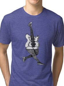 Lady Guitar Tri-blend T-Shirt