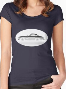 MERCEDES BENZ 300sl GULLWING Women's Fitted Scoop T-Shirt
