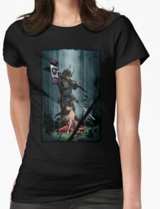 Samurai and Geisha Womens Fitted T-Shirt