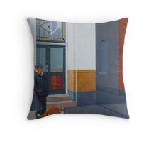 The Familiar, 2012, Oil on Linen, 61x46cm, 2012. Throw Pillow