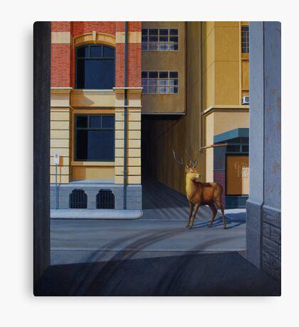 The Messenger II, 2013, Oil on Linen, 101x91cm. Canvas Print