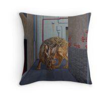 Brown Hare, 2013, Oil on Linen, 61x46cm. Throw Pillow