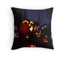Jack-O-Lanterns 2 Throw Pillow