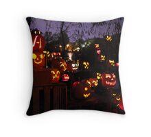 Jack-O-Lanterns 3 Throw Pillow