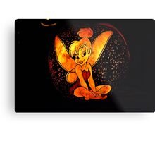 Tinkerbell Jack-O-Lantern Metal Print