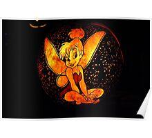 Tinkerbell Jack-O-Lantern Poster