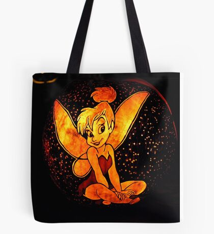Tinkerbell Jack-O-Lantern Tote Bag