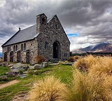 Church of the Good Shepherd, Lake Tekapo, South Island, New Zealand by Kevin Hellon