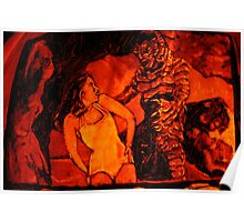 Creature From The Black Lagoon Jack-O-Lantern Poster