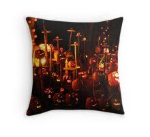 Jack-O-Lanterns 9 Throw Pillow