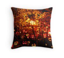 Jack-O-Lanterns 10 Throw Pillow