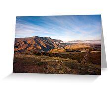 Crown Range Mountains, South Island Greeting Card