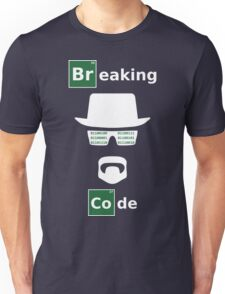Breaking Code - White/Green on Black Bad Parody Design for Hackers Unisex T-Shirt