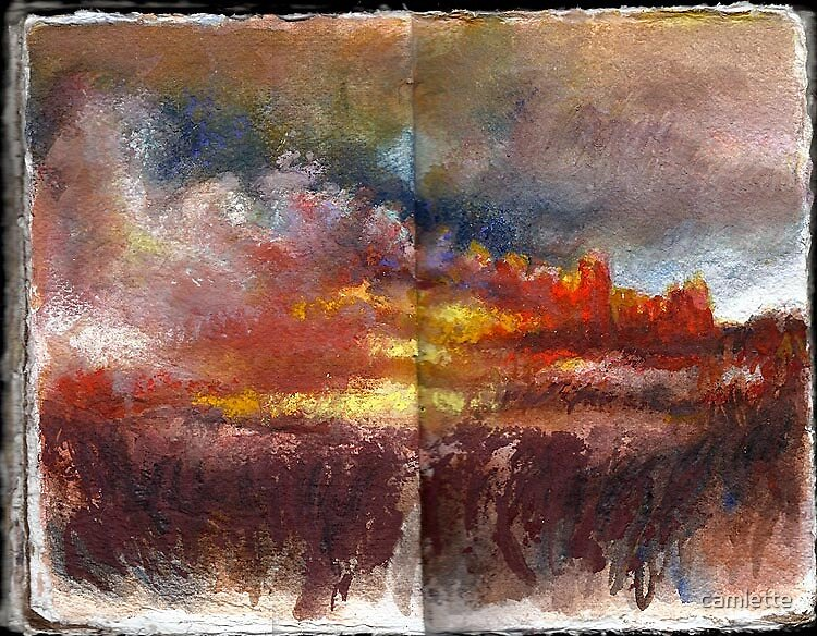 Altered Sketchbook, Whitechapel by Cameron Hampton