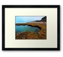 Across the Rockpool Framed Print