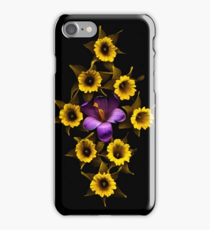 Early Crocus and Daffodil Diamond iPhone Case/Skin